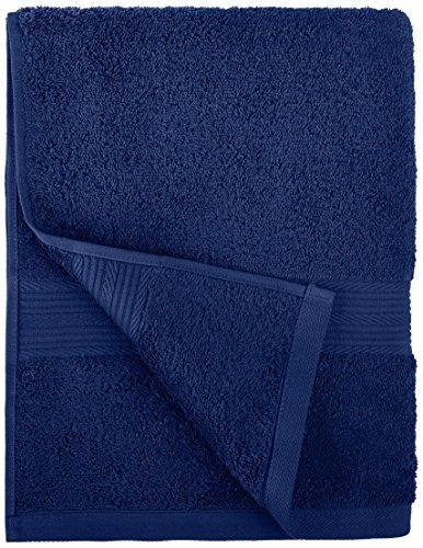 AmazonBasics 6-Piece Fade-Resistant Bath Towel Set - Navy Blue