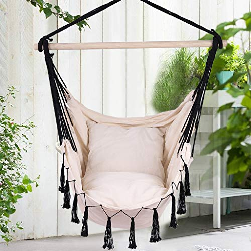 (80% OFF Coupon) Hanging Hammock Rope Swing Chair $36.98