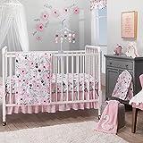 Bedtime Originals Blossom Pink Watercolor Floral 3-Piece...