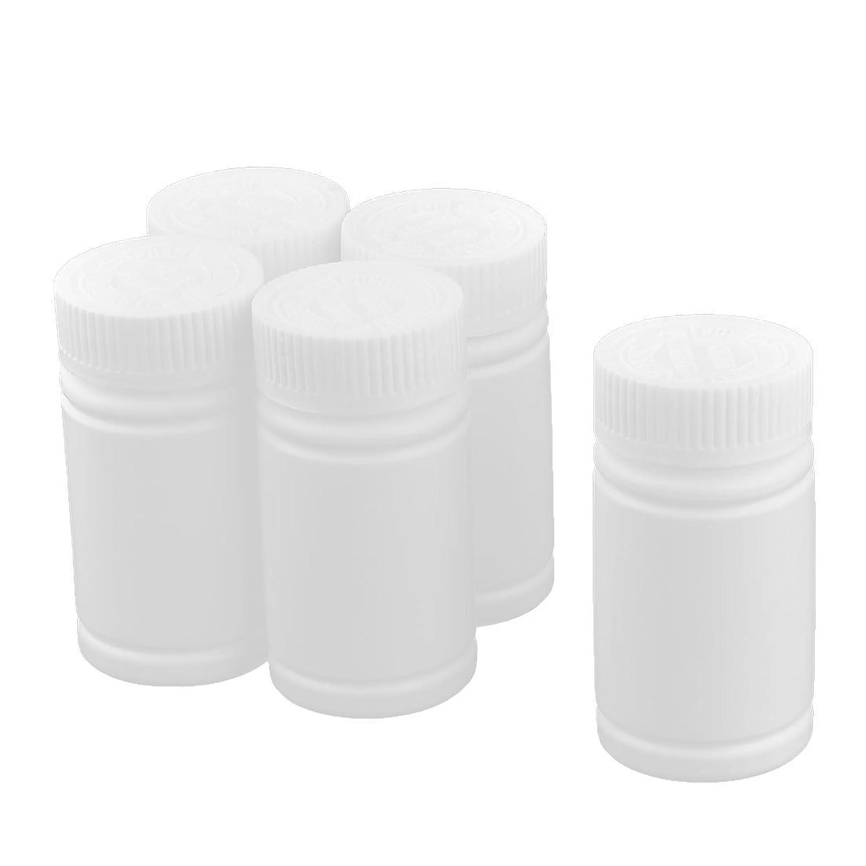 コカイン震え尊敬するMyoffice 食品サプリメント ピルボトル プラスチック ハーブサプリメント ビタミン ポータブル 5個入り