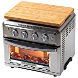 Wood Cutting Board for Convection Toaster Oven, Compatible with Cuisinart TOA-60 Serie / TOA-65 Air Fryer, Heat Resistant Anti-slip Silicone Feet, Creates Storage Space and Protects Cabinets Cupboard