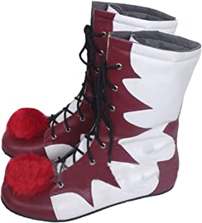 Clown Pennywise Cosplay Shoes IT Boots PU Cosplay Costume Unisex Halloween