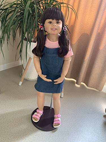 39inch Reborn Toddler Dolls,Huge Baby Full Body Hard Vinyl Smile Girl Realistic Anatomically Correct+ Long Hair Age 2 Dress High Qualtity Masterpiece Doll Model Collectible -  RBB Dolls, 39NPK1909-1901