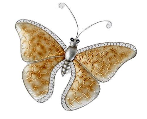 Formano Extravagante Design Wanddeko Wandrelief Wandornament Schmetterling Champagner Metall 54x45 cm 1 Stück