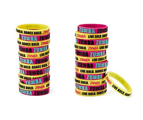 Zumba Dance Bold Rubber Bracelets 25pk