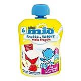 Nestlé Mio Merenda Frutta e Yogurt da Spremere Mela e Fragola senza Glutine da 6 Mesi - 1...