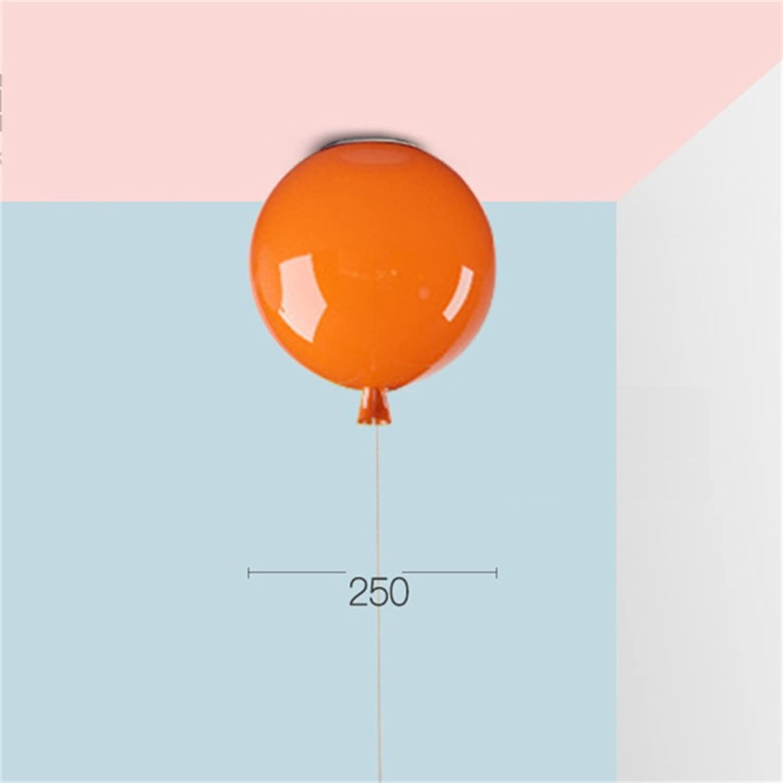JUN LIGHT Licht, LED Warm Romantic Schlafzimmer Deckenleuchte Creative Restaurant Lichter Bunte Ballon Kunst Kuppel Licht Orange Gute Qualitt (gre   Small)