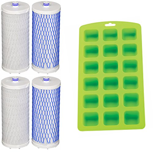 Aquasana AQ-4035 Drinking Water Filter Replacement (4 Pack) + Ice Cube Tray