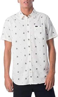 Rip Curl Men's Spring Palm S/S Shirt, Bone