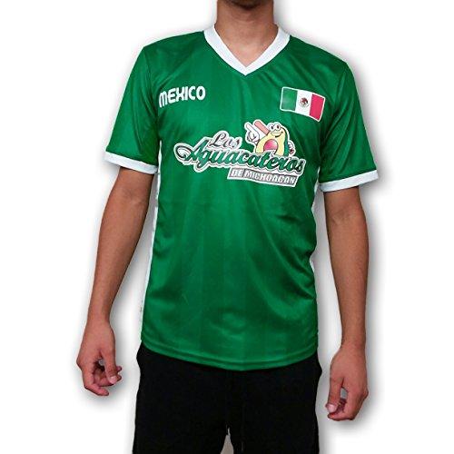 Los Aguacateros de Michoacan Mexico Men's Baseball Jersey Hecho en Mexico (L) Green