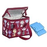 Sac Repas Lunch Bag Sac à Déjeuner Sac Fraîcheur Portable Isotherme rouge chat avec 3 Mini congélateur blocs