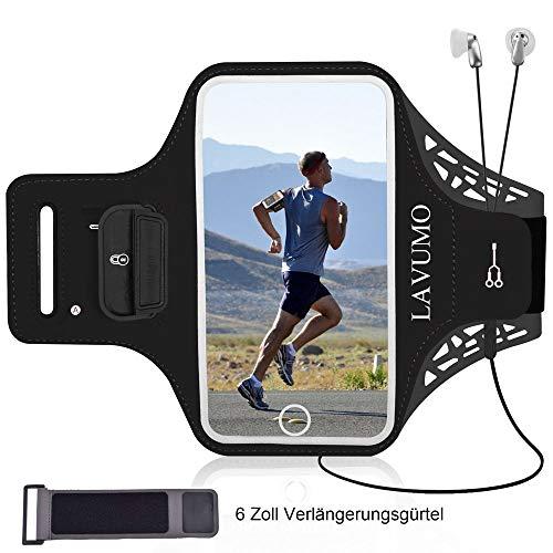 Armtasche Handy Sportarmband für iPhone 11 Samsung S8 S9 S6 S7 S10 Plus S5 A50 A7 A5 P9 P10 Lite P20/P20 lite P30 Mate 20 Lite Sport Handytasche für Joggen Laufen Gym Mit Schlüsselhalter Kartenhalter