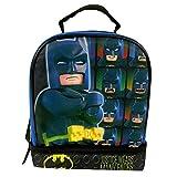 Lego Batman 9.5' Dual Compartment Lunch Bag with Cape bonus Detachable Cape