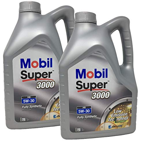 Aceite Lubricante Motor - Mobil Super 3000 XE 100% Sintetico 5W-30, Pack 10 litros