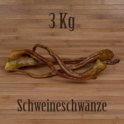 3 Kg Schweineschwänze wie - Rinderkopfhaut Ochsenziemer Kausnack Kauartikel