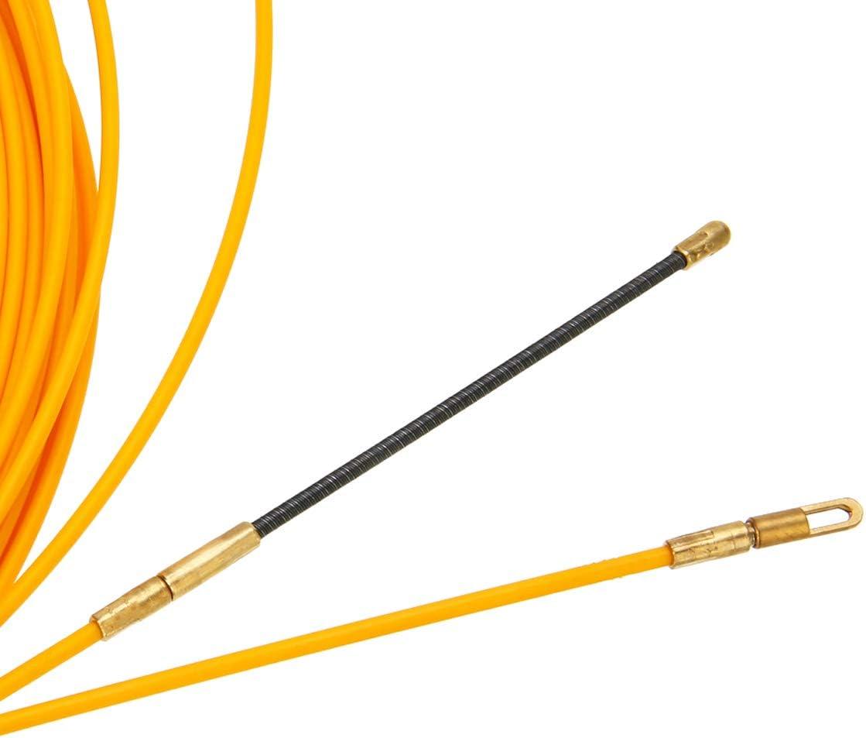 gazechimp 30M Cable /Électrique de Fibre de Verre de Dispositif de Guide de 4mm Poussent des Extracteurs Conduisent Fil de Bande de Poissons de Rodder