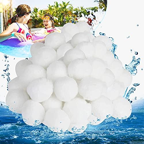 Tycoonomo 700g Filter Balls Ersetzen 25kg Filtersand Filterbälle für Filterpumpe Schwimmbad Sandfilteranlage Aquarium Sandfilter - Recyclebar