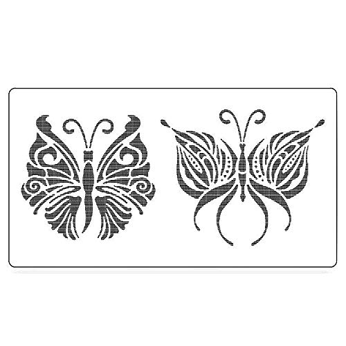 OBUY Double Butterfly DIY Craft Hollow Layering Stencils for Painting on Wood, Cake, Fabric, Walls,Decorative, Airbrush + More   Reusable 8.6X 4.7 inch Mylar Template