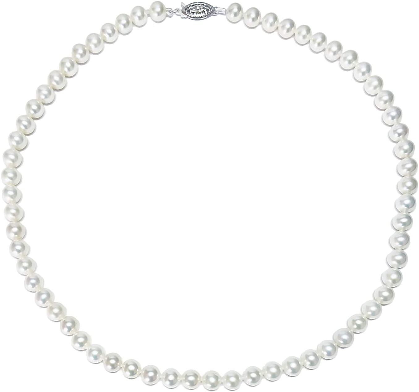 6.5-7mm Beauty products AAAA Quality White Max 76% OFF Freshwater Necklace Pearl Cultured wi