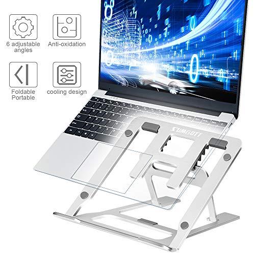 """sumgott Laptop Ständer, Notebook ständer für Ipad und Dell, HP, Samsung, Lenovo alle 10\""""~15.6\"""" Notebooks - Silber"""