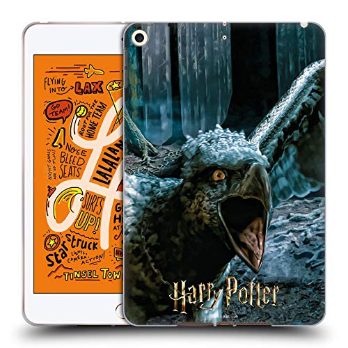 Official Harry Potter Buckbeak Deathly Hallows XXX Soft Gel Case Compatible for Apple iPad mini (2019)