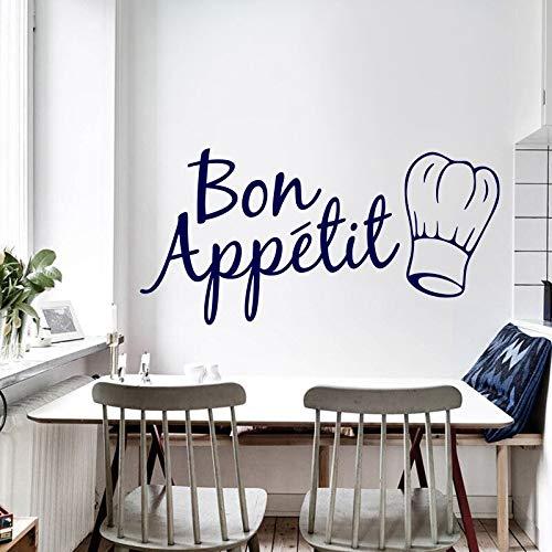 Yilooom Calcomanía de pared de vinilo para pared de alimentos, cocina, habitación, calcomanía de pared para cuchillo y tenedor, adhesivo de pared extraíble para el hogar, 55,8 cm de ancho