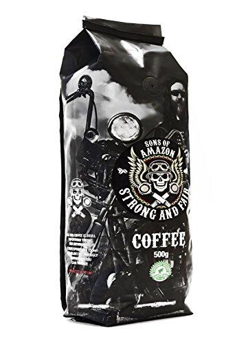 Sons of Amazon - 500g - Der stärkste Kaffee im Vereinigten Königreich - STARK UND FAIR - Dust Grind - fein gemahlen