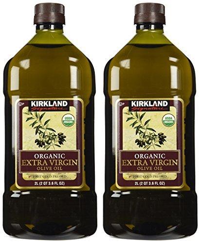 Kirkland Signature 2 x Organic Extra Virgin Olive Oil, 2 Liters - PACK OF 8