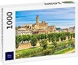 Lais Puzzle Vista de la Antigua Catedral Seu Vella con el río Segre en Lleida, Cataluña, España 1000 Piezas