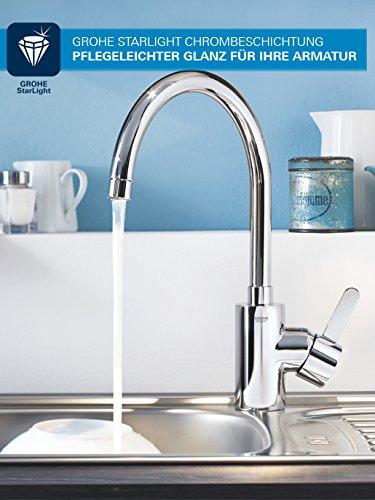 Grohe Start Loop Küchenarmatur, hoher Auslauf, Schwenkbereich 360°, (31374000) - 5