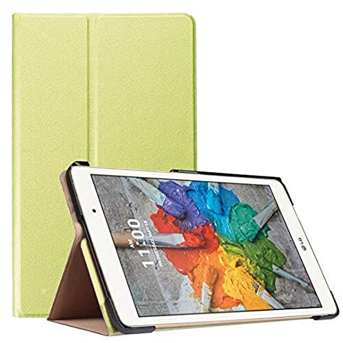 Schutzhülle für LG GPad X 8.0 T-Mobile V521 V522 ATundT V520, Leder, ultradünn, leicht, mit Standfunktion, für LG G Pad III 3 8.0 V525 8 Zoll Tablet (2 Grün)