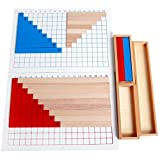 Backbayia Juguetes de madera calcul digital de adiciones y división, juego educativo de materiales de Montessori para bebé