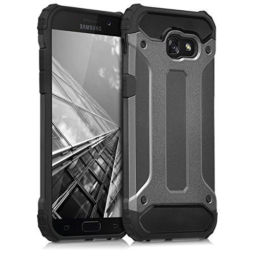 kwmobile Funda Compatible con Samsung Galaxy A5 (2017) - Carcasa de TPU Transformer en Antracita/Negro