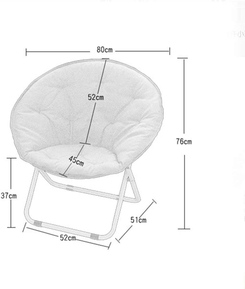 LAOMAO Rocking Moon Chair Chaise Longue Chaise Longue Chaise Paresseuse Chaise Radar Chaise Pliante Inclinable Chaise Ronde Canapé Chaise (Couleur : D) B