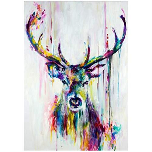HYFBH Cuadro Lienzo Pinturas murales Acuarela Animales