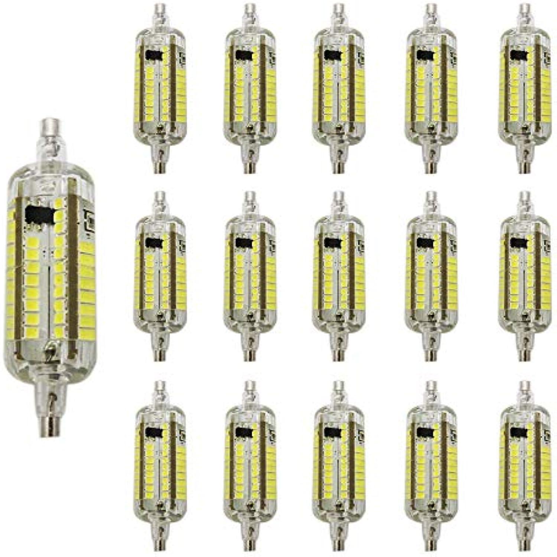 15 Stück LED Mais-Licht 5W R7S Kaltwei 6000K AC220V 500LM Beleuchtung-Winkel 360 Grad Mais-Birne Leuchtmittel