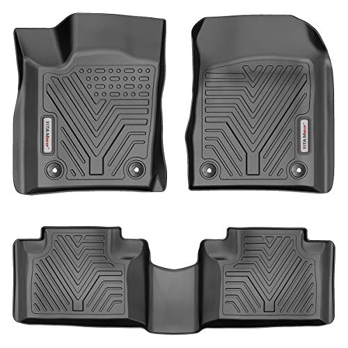 YITAMOTOR Floor Mats Compatible with Jeep Grand Cherokee, Custom Fit Floor Liners for 2016-2021 Jeep Grand Cherokee/Dodge Durango, 1st & 2nd Row All Weather Protection, Black