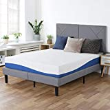 PrimaSleep Wave Gel Infused Memory Foam Mattress, 10'' H, Full, Blue
