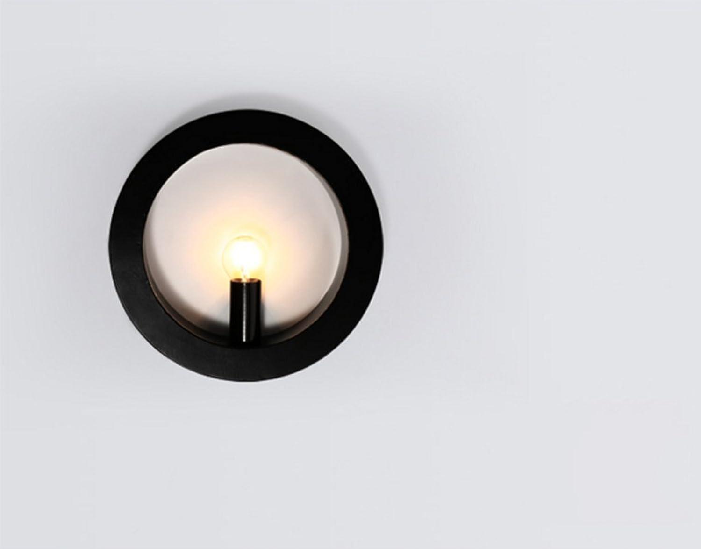 Wandlampe LED Nachttischlampe Moderne, einfache, kreative Schlafzimmer Wandleuchte Wohnzimmer Balkon Gnge Treppenhaus Wandleuchte (Farbe   Schwarz)