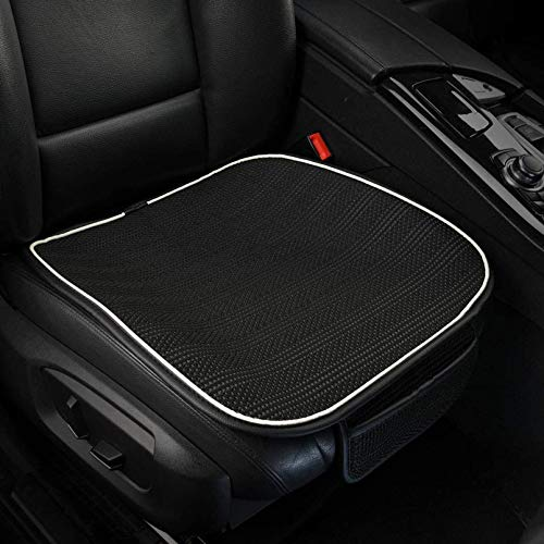 Leowsad Breathable Car Seat Cushion for Adults. Comfort Car Seat Pad Front.Non-Slip Seat Protector for Car.(Black)