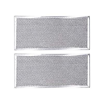 """AMI PARTS W10208631A Filter Aluminum Mesh Microwave Oven Grease Filter Compatible with Whirlpool, 2-Pack,12-15/16"""" x 5-3/4"""" x 1/16"""""""
