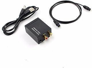 SODIAL デジタル - アナログオーディオコンバータアンプデコーダ光ファイバ同軸信号 - アナログステレオオーディオアダプタ3.5MMジャック2 x RCA