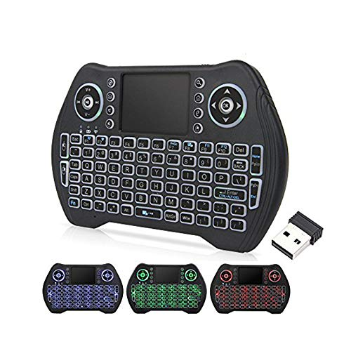 EASYTONE Backlit Mini Wireless Keyboard With Touchpad Mouse Combo and...