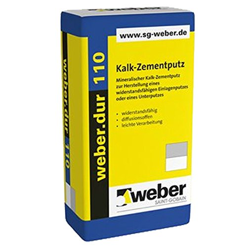 weber.dur 110 Kalk-Zementputz 30kg 1mm, naturgrau