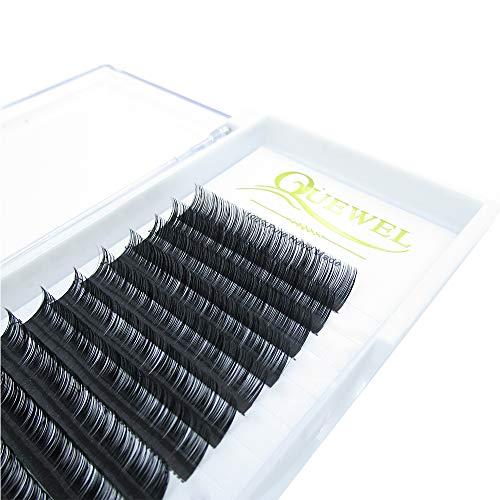 Quewel lash Prime C Curl 0.10 épaisseur 12mm cils Extensions Semi naturels individuels permanente cils doux respectueux de l'Application vison cils (utilisation parfaite de Salon)