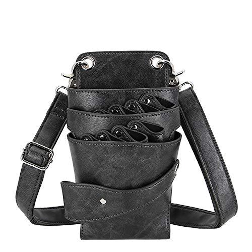 Bolsa de peluquería, bolso de soporte de herramientas de pelo para estilista con cinturón de hombro de cintura, cinturón de peluquería, peluquería Peluquería Bolsa de peluquería (Color : Gray)