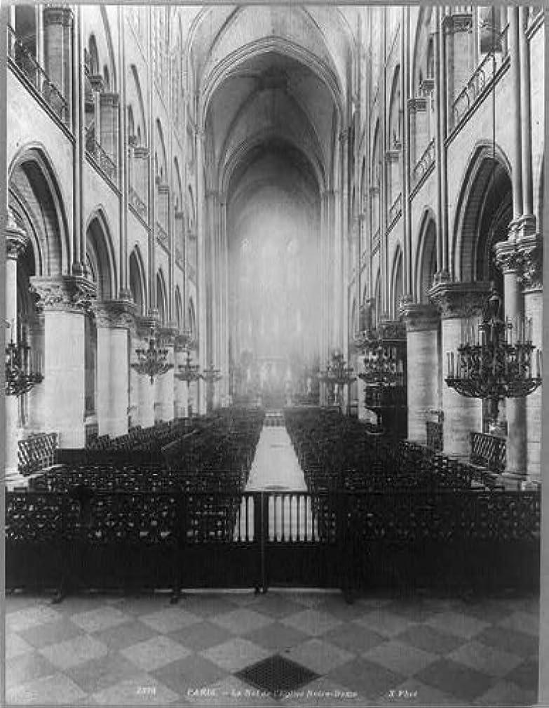Photo: Le Nef de l'Eglise Notre-Dame,Paris,France,nave of Notre Dame Cathedral,interior