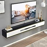 Mueble de TV de pared Con cajón Dormitorio Sala de estar Estante de pared Estante flotante Set-top box Enrutador CD DVD Foto Juguete Soportes de TV Estante de exhibicion Consola de TV