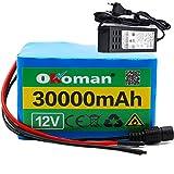 12V 30Ah 3S12P 12.6V Batteria al Litio Ad Alta Potenza per Inverter Lampada allo Xeno Lampione Solare per Auto ECC con Caricatore