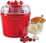 Andrew James 1,45 Liter Speiseeismaschine/ Eiscremeautomat Sorbet + Frozen Joghurt Maker in Rot
